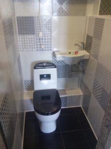 ремонт ванной черно белая плитка