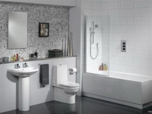 ремонт ванной комнаты в белом цвете
