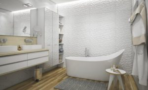 ремонт ванной в белом цвете