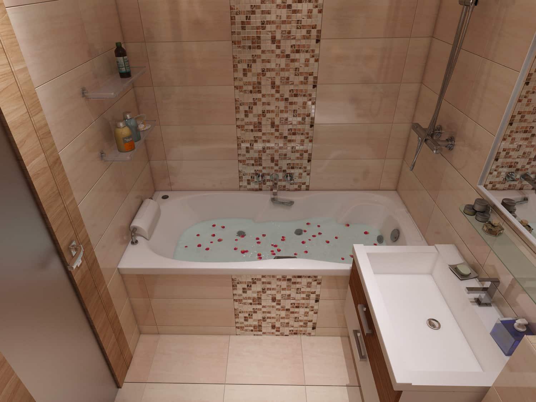 ремонт ванной в двухкомнатной квартире