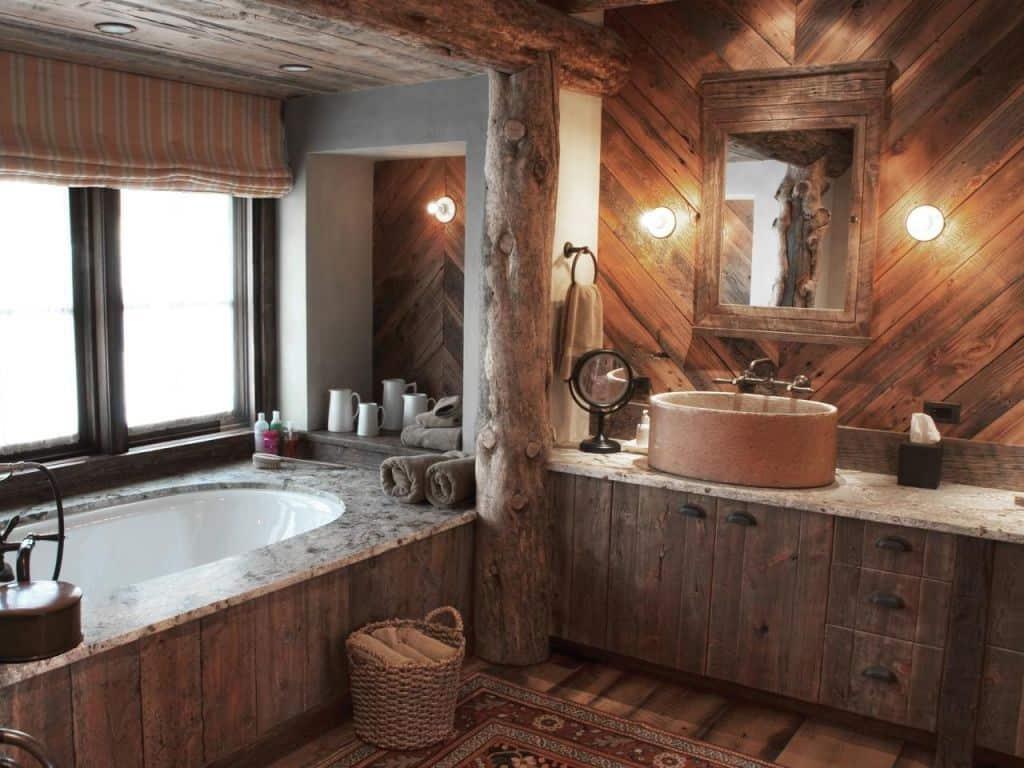 кантри стиль ванной комнаты