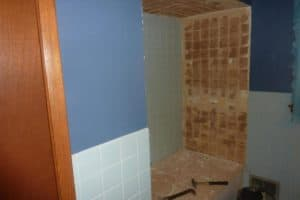 отделка стен в ванной комнате плиткой
