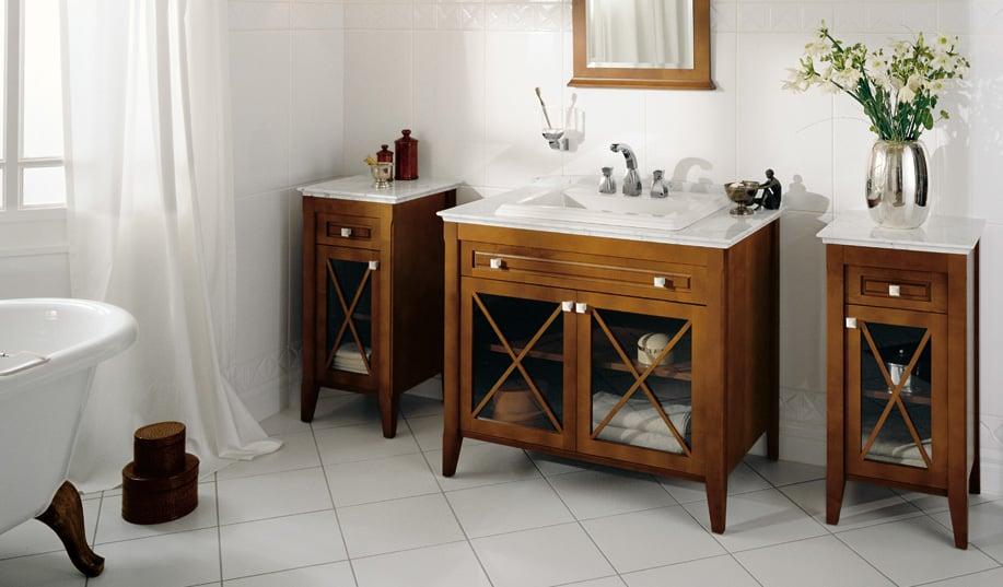 ремонт деревянной мебели в ванной