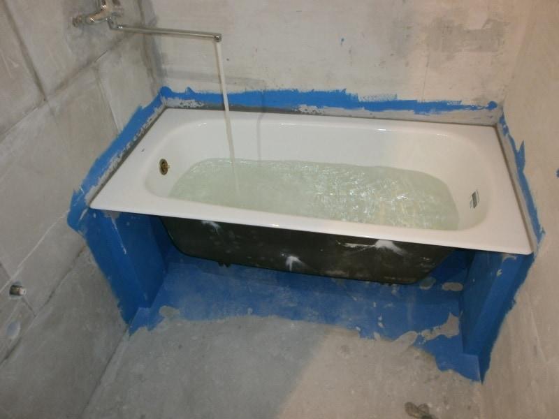 установка ванны, ремонт