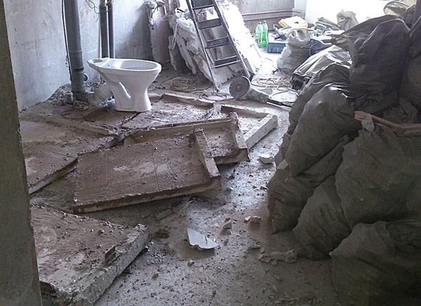 демонтажные работы в санузле