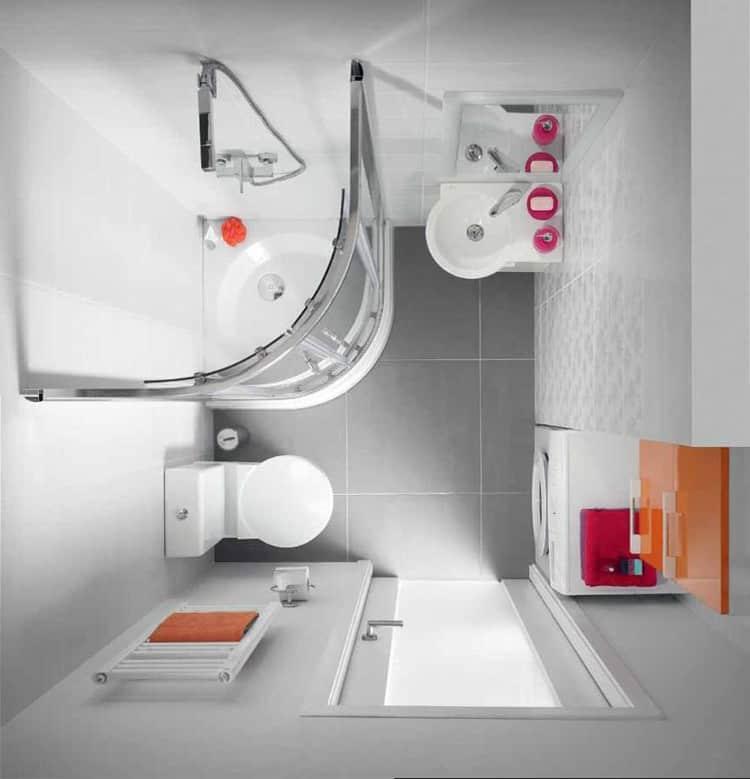 Идеи маленькой ванной с туалетом