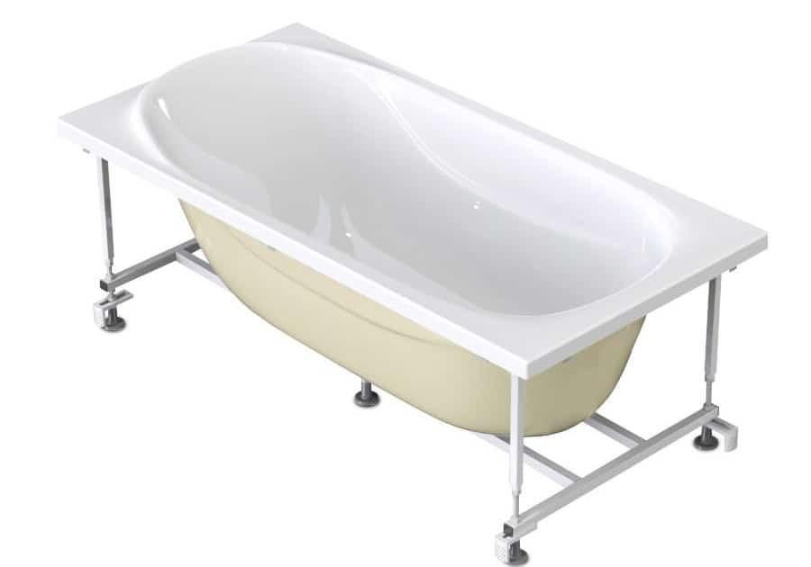 Акриловая ванна на каркасе