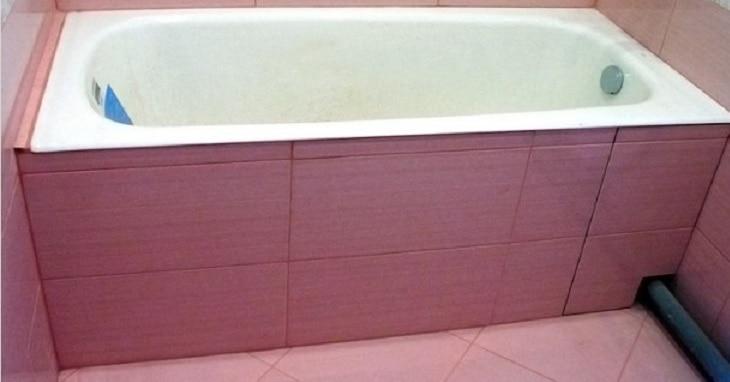 Один из вариантов наружной отделки ванны