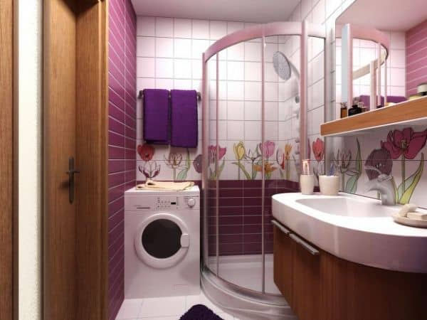 Душевая кабина вместо ванной.