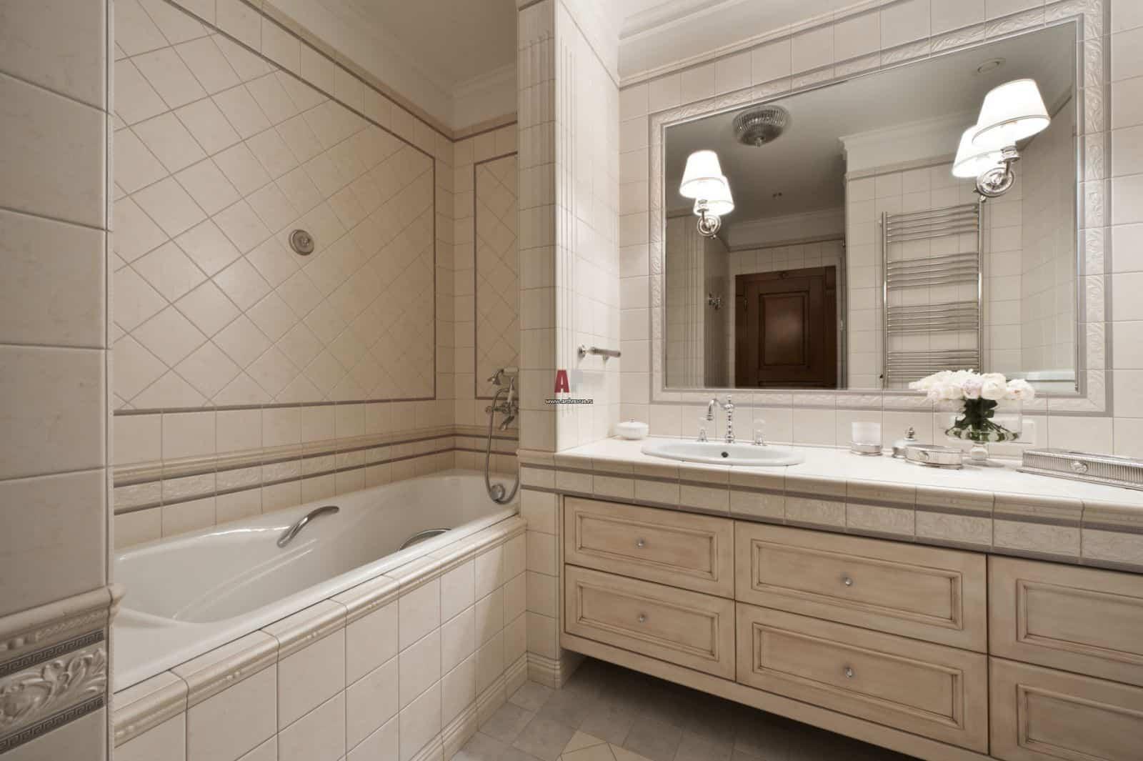 Плитка для ванной классический стиль