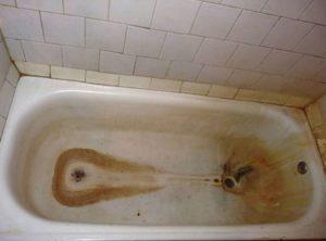 ржавчина на ванне
