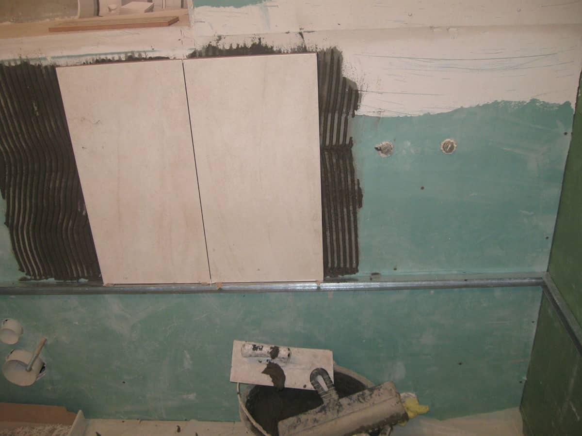 Плитка на гипсокартон в ванной комнате