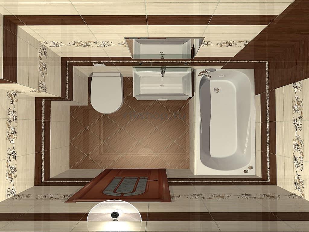 планировка ванны
