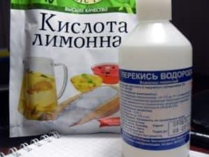 Перекись и лимонная кислота