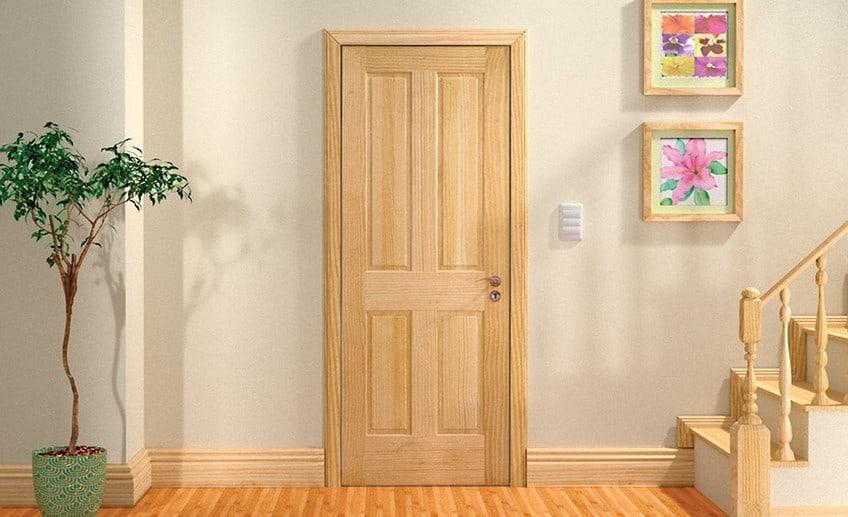 ванная дверь из массива