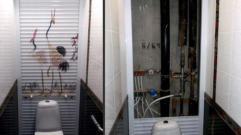 Как спрятать трубы в ванной