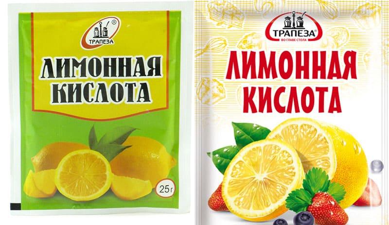 Лимонная кислота для чистки ванны.