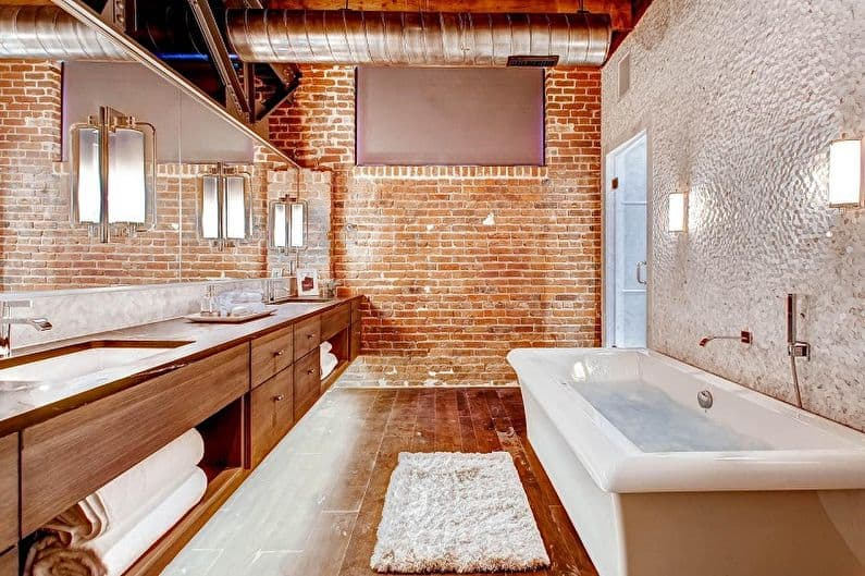 Ванная комната из кирпича