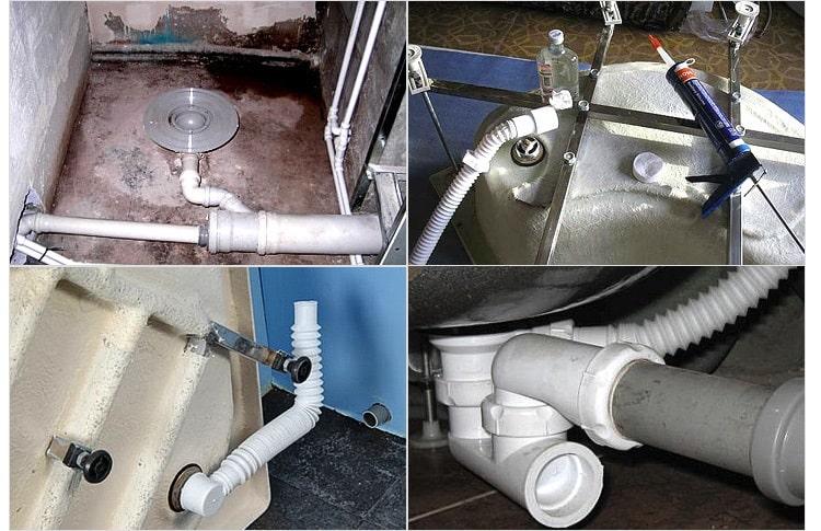 Подключение кабины к канализации