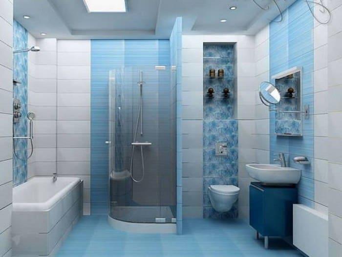 дизайн ванной комнаты с туалетом - варианты