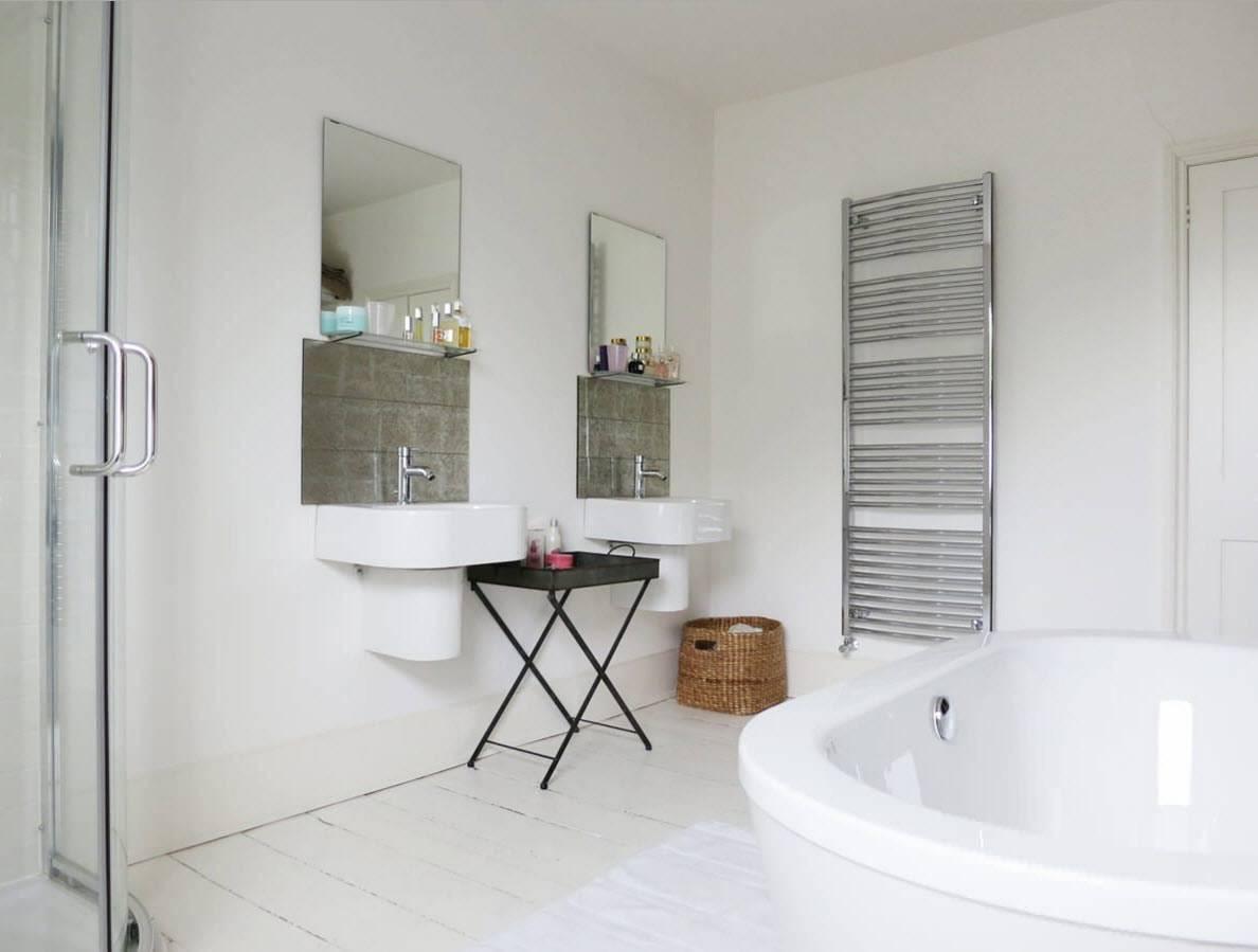 Отделка ванной комнаты без плитки