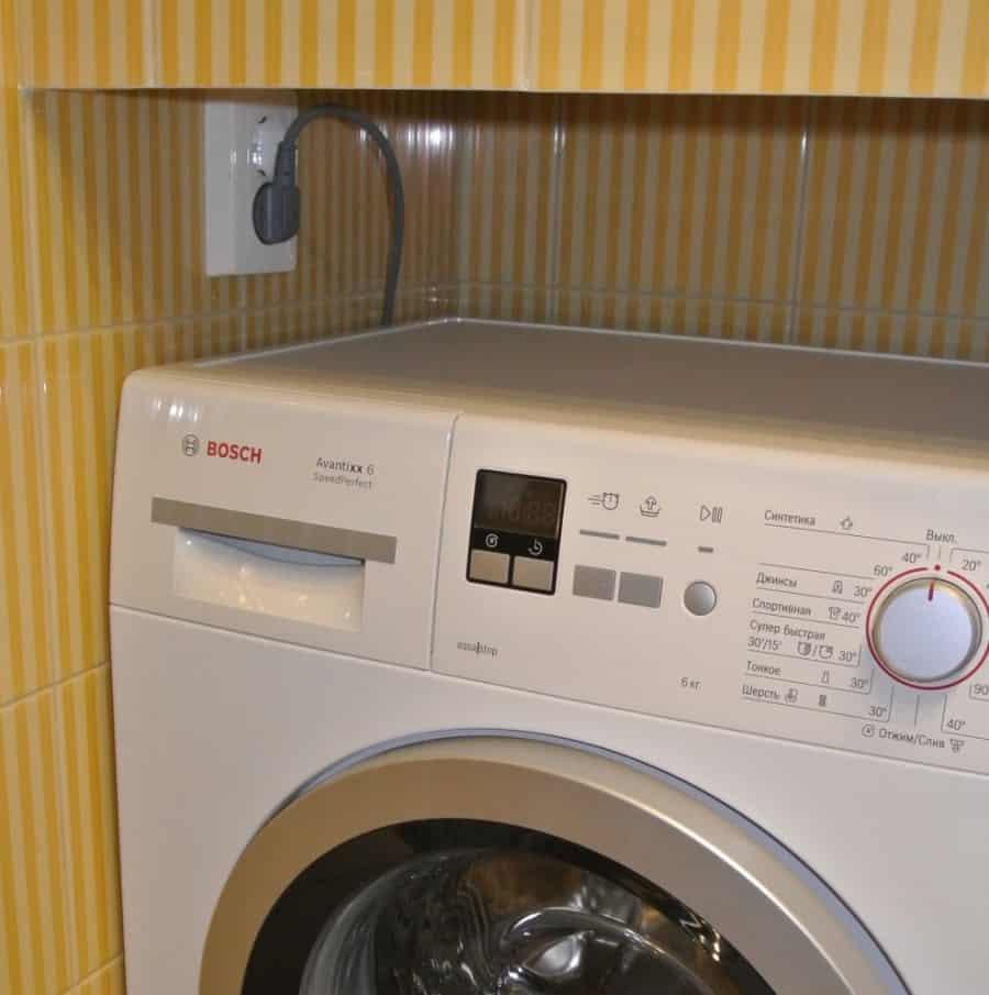 розетка для стиральной машины