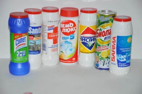 Чистящие порошки для ванны