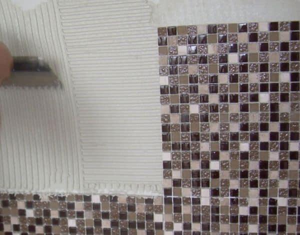 Мозаика на белый клей