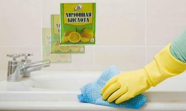 Лимонная кислота от налета в ванной