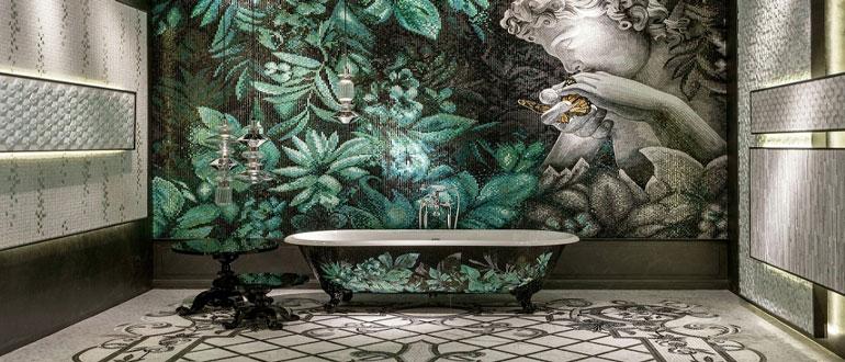 Мозаика в ванной комнате дизайн фото