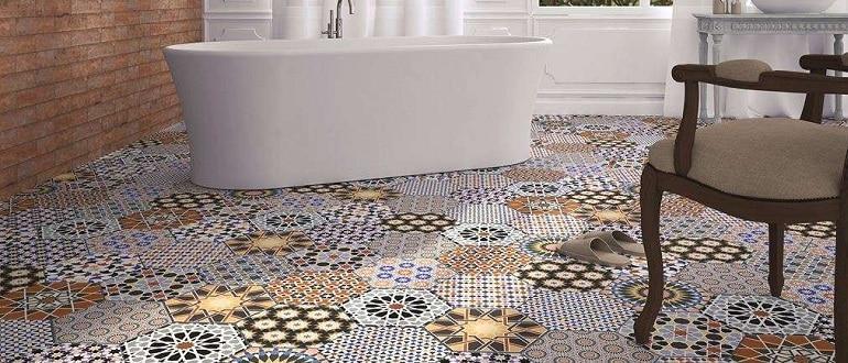Плитка на пол в ванную