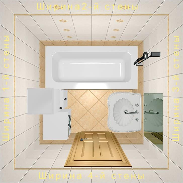 Расчет плитки для ванной: калькулятор