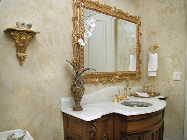 Декоративная штукатурка в ванной комнате своими руками