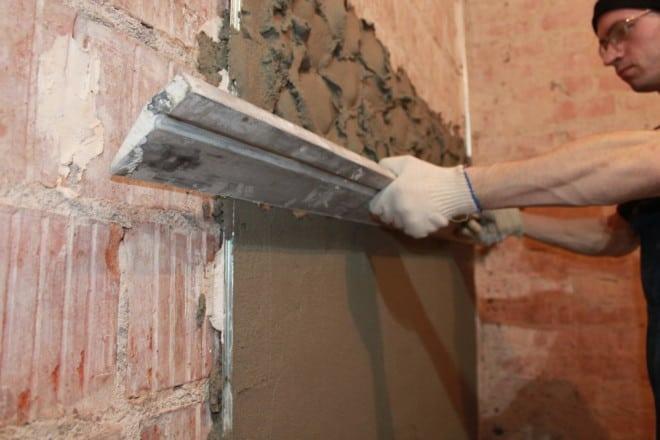 Выравнивание стен с помощью ЦСП