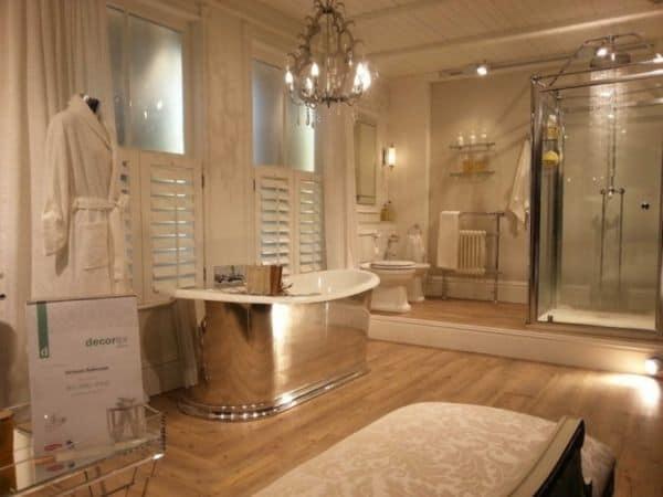 Дизайн ванной в бежевом