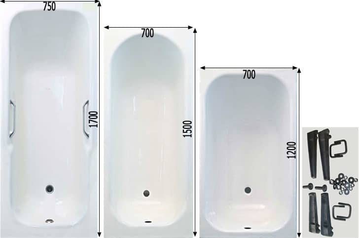 виды ванн