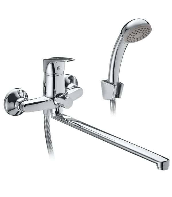 Устройство смесителя для ванной с душем однорычажный