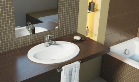 Столешница для ванной комнаты под раковину и стиральную машину