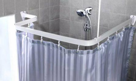 Карниз угловой для шторы в ванной