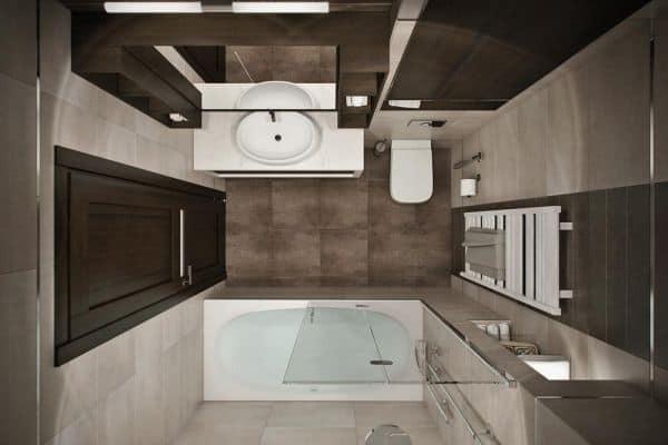ванная комната 2 квадратных метра