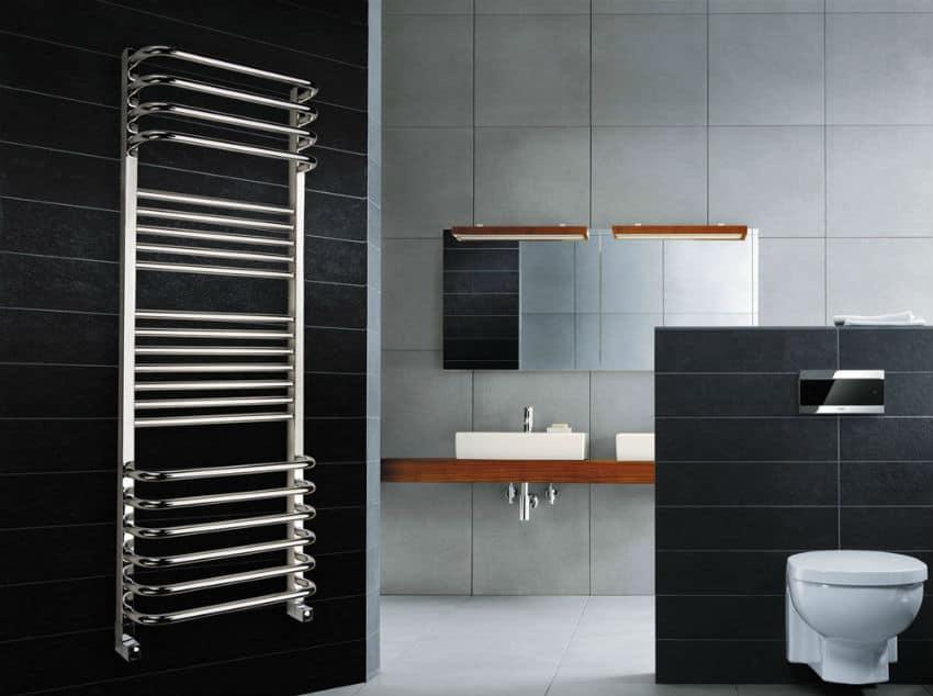 Высота установки полотенцесушителя в ванной