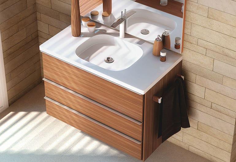 Как установить раковину с тумбой в ванную комнату