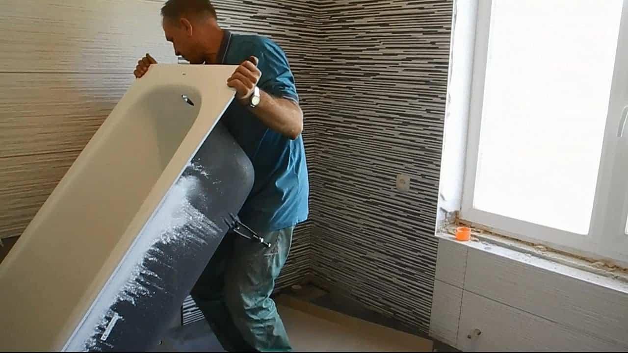 Как занести ванну в комнату