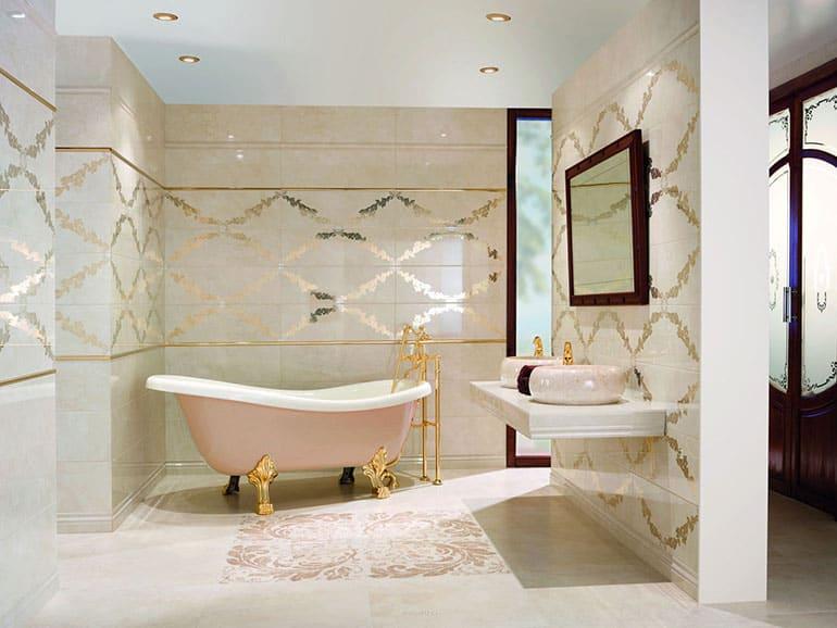 Обновление плитки в ванной комнате без ее замены