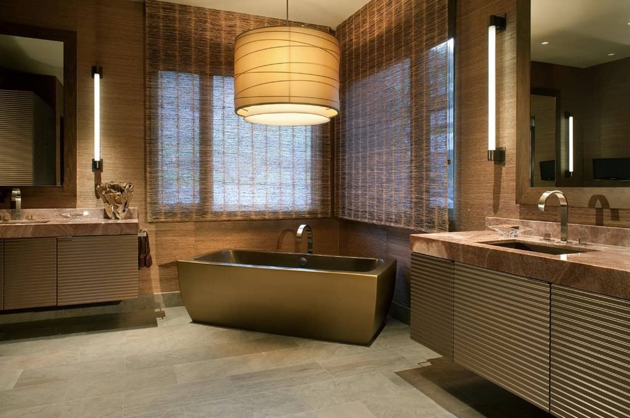 Особенности коричневых тонов в интерьере ванной