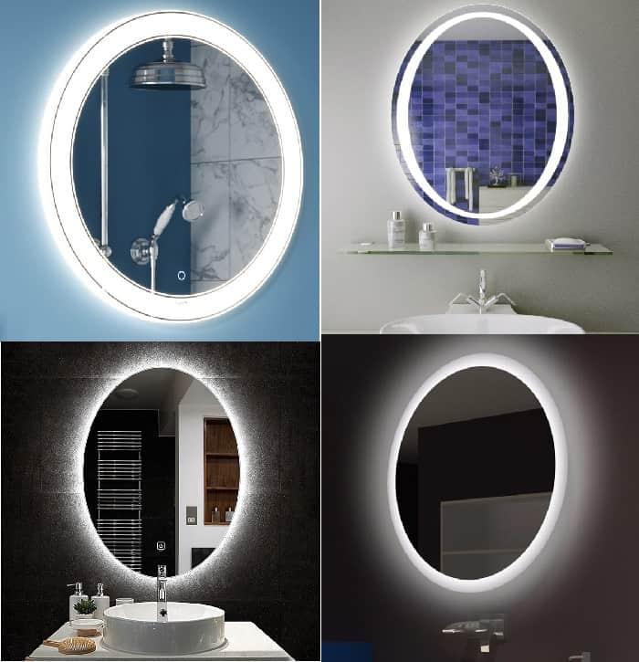 Подсветка на круглые зеркала