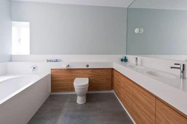 Пример ванной в стиле минимализм