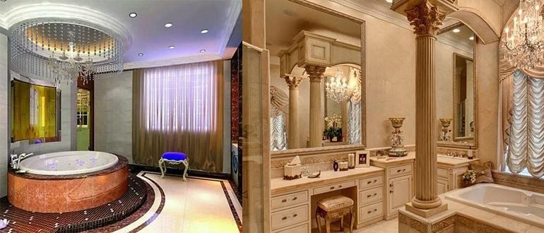 Как выглядит элитная ванная комната