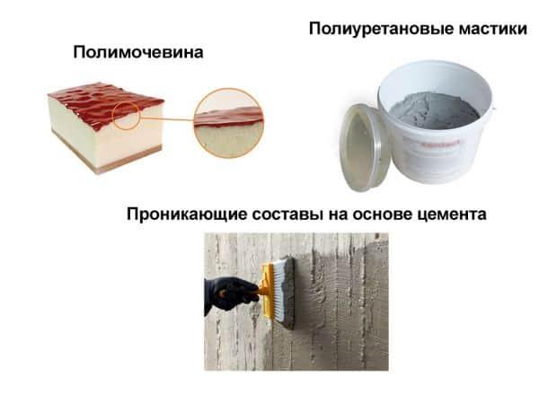 Материалы для гидроизоляции потолка