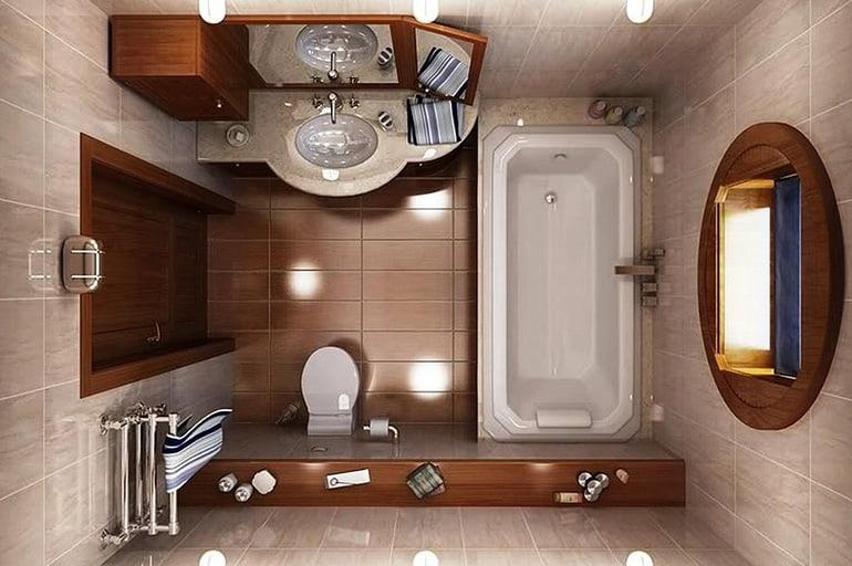 Дизайн ванной комнаты с площадью 8 кв.м